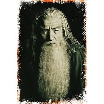 Gandalf Retro Ahþap Poster 30x20