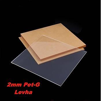 Pleksi Levha Pet-G Levha Þeffaf (Renksiz) 2mm Her Boyutta