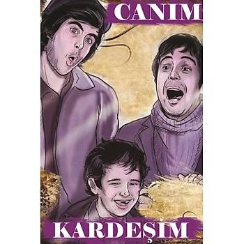 Caným Kardeþim Retro Ahþap Poster 30x20