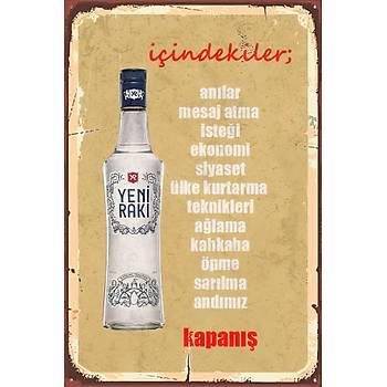 Ýçindekiler Retro Ahþap Poster 30x20
