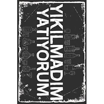 Yýkýlmadým Yatýyorum Retro Ahþap Poster 30x20