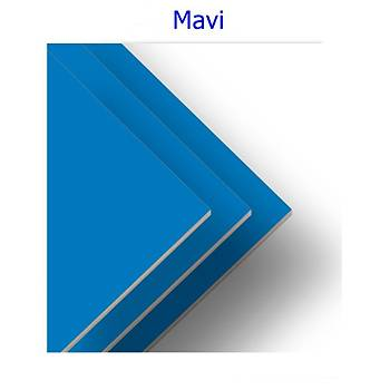 Tek Yüzü Mavi Ham MDF Levha 3mm Her Boyutta