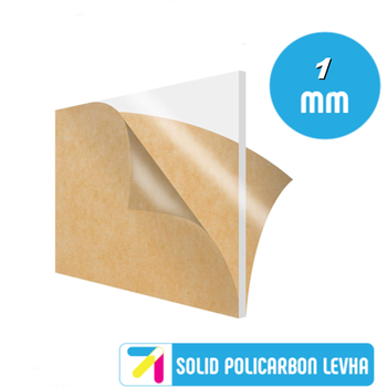 Pleksi Levha Solid Polikarbon Þeffaf (Renksiz) 1mm Her Boyutta
