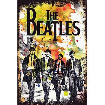 The Beatles Retro Ahþap Poster 30x20