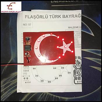 Flaþörlü Türk Bayraðý (Monteli)
