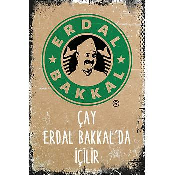 Erdal Bakkal Retro Ahþap Poster 30x20
