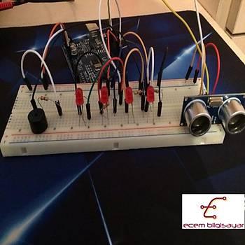 Arduino Ultrasonik ile Park Sensörü (Proje 5)