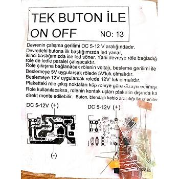 Tek Buton ile on /off devresi (Rölesiz)(Demonte)