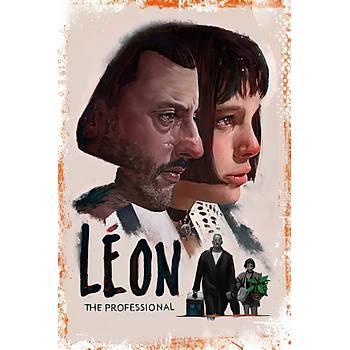 Leon Retro Ahþap Poster 30x20