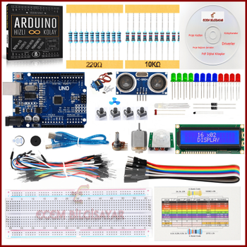 Arduino Baþlangýç Seti Mini 24 Parça 126 Adet