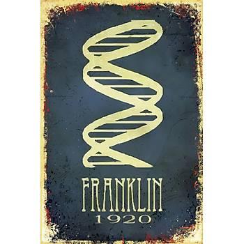 Franklin 1920 Retro Ahþap Poster 30x20