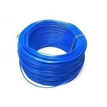 Tek Damarlý Zil Teli 1 metre Mavi kablo