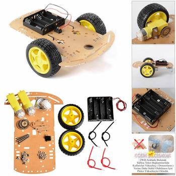 Arduino Baþlangýç Seti Uno R3 2WD Robot Araba Kiti