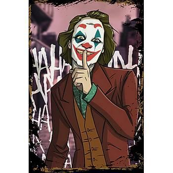 Joker 2 Retro Ahþap Poster 30x20