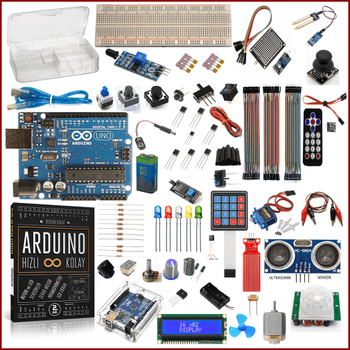 Arduino Baþlangýç Seti Uno R3 DIP Gold 85 Parça 279 Adet