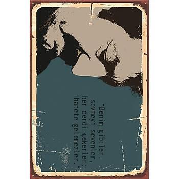 Müslüm Gürses 3 Retro Ahþap Poster 30x20