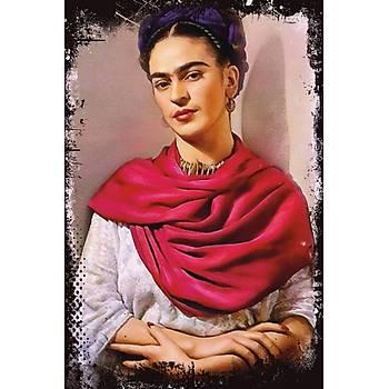 Frida Kahlo 2 Retro Ahþap Poster 30x20