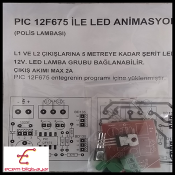 PIC 12F675 iLE LED ANiMASYOS (POLiS LAMBASI) (DEMONTE)