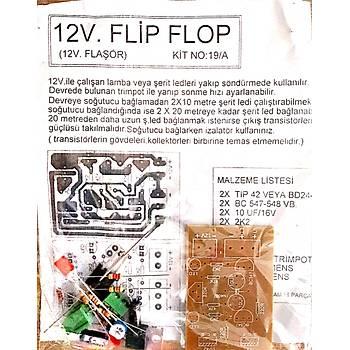 12V Flip Flop Devresi Þerit Led için (Demonte)