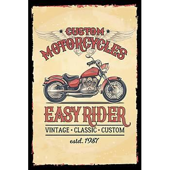 Easy Rider Retro Ahþap Poster 30x20