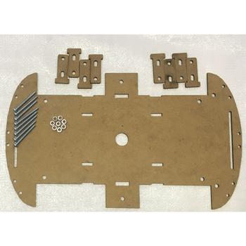 Arduino 4WD Araba þasesi (Ahþap) vida ve somunlar dahil