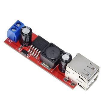 LM2596 USB Çýkýþlý 5V 3A Gerilim Azaltýcý Modülü