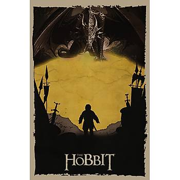 Hobbit Retro Ahþap Poster 30x20