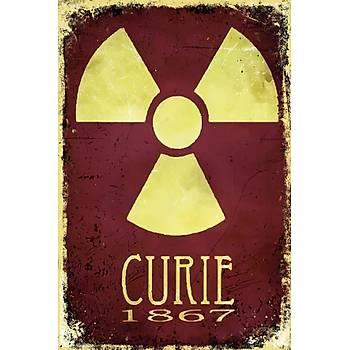 Curie 1867 Retro Ahþap Poster 30x20