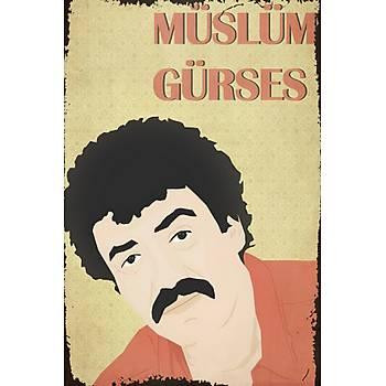 Müslüm Gürses Retro Ahþap Poster 30x20