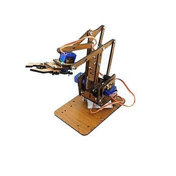 Arduino MDF Robot Kol Parçalarý (Lazer Kesim) Demonte