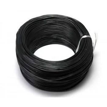 Tek Damarlý Zil Teli 1 metre Siyah kablo
