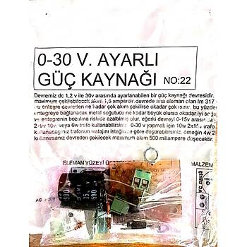 Ayarlý Güç Kaynaðý 0-30V 1.5A (Demonte)