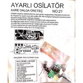 Ayarlý Osilatör Kare Dalga Üretici (Demonte)