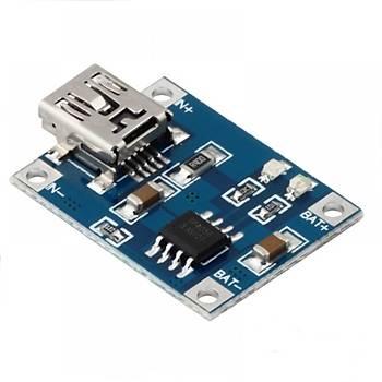 TP4056 Mini usb lipo þarj modülü