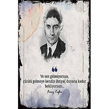Franz Kafka Retro Ahþap Poster 30x20