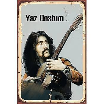 Yaz Dostum Retro Ahþap Poster 30x20