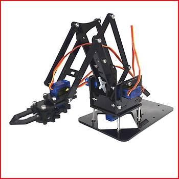 Arduino Robot Kol Kiti (Lazer Kesim Vidalar Dahil)