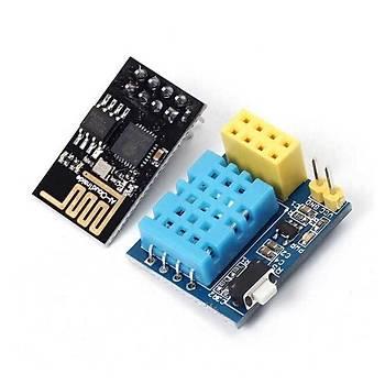 DHT11 ile WiFi Sýcaklýk ve Nem Sensör Kartý