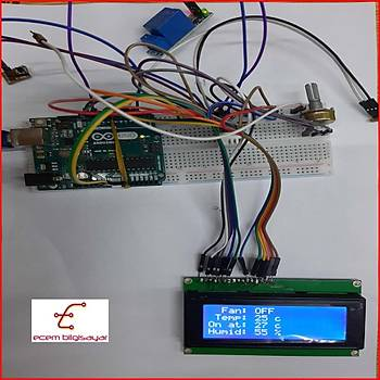 Arduino Sýcaklýk Ayarlý Fan Kontrol Projesi (Proje 10)