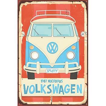 Volkswagen Retro Ahþap Poster 30x20