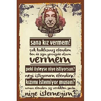 Vecihi 2 Retro Ahþap Poster 30x20