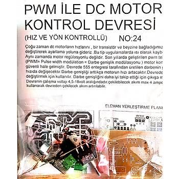 DC Motor Hýz ve Yön Kontrol Devresi PWM (Demonte)