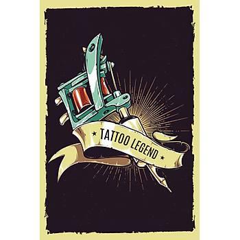 Tattoo Legend Retro Ahþap Poster 30x20