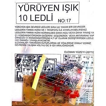 Yürüyen Iþýk 10 Ledli (Demonte)
