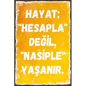 Hesapla Deðil Retro Ahþap Poster 30x20