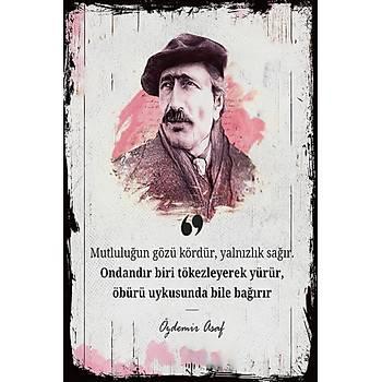 Özdemir Asaf 2 Retro Ahþap Poster 30x20
