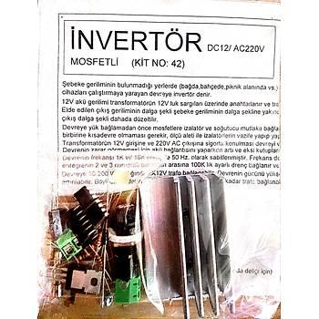 Ýnvertör 12/220V(frekans ve voltaj ayarlý)(Demonte)