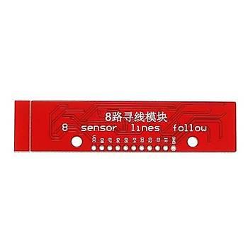 QTR-8A 8'li Çizgi Algýlama Sensör Kartý