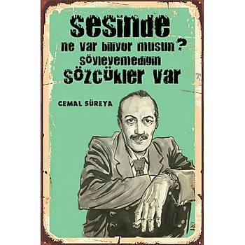 Cemal Süreyya 2 Retro Ahþap Poster 30x20