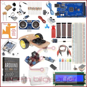 Arduino Baþlangýç Seti Mega 2560 Silver 66 Parça 187 Adet